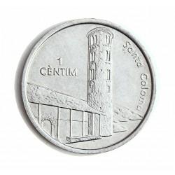 Andorra 1  Cts.  2004. AL. 2,1gr. (Sta. Coloma). Ø27mm. SC