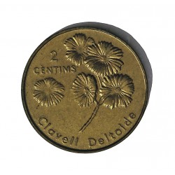 Andorra 2  Cts.  2003. BRASS. 3,55gr. (Clavel Deltoides). Ø18mm. SC. KM. 201