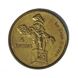 Andorra 5  Cts.  2004. BRASS. 4,6gr. (La Cruz Grande). Ø21,8mm. SC