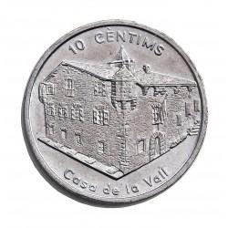 Andorra 10  Cts.  2004. CUNI. 8,05gr. (Casa de la Vall). Ø27,8mm. SC