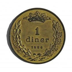 Andorra 1  Diner. 1986. BRASS. 6,21gr. (Joan-Bisbe). Ø25mm. SC. KM. 35