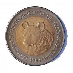 Andorra 2  Diner. 1984. CUNI. 12,8gr. (Protec.Naturaleza-Oso-(Bimetalica)). Ø31mm. SC. KM. 19 - ABAD. 23