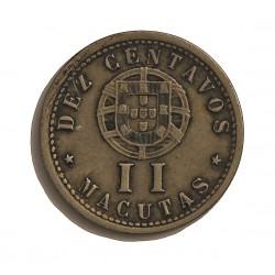 Angola 2 Macuta. 1928. CUNI. 2,6gr. (10 Ctvos.). Ø19mm. MBC-. KM. 67