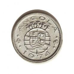 Angola 10 Ctvo. 1974. AL. 0,5gr. Ø15mm. SC-/SC. (Tono oroginal). MUY ESCASO/A. KM. 82