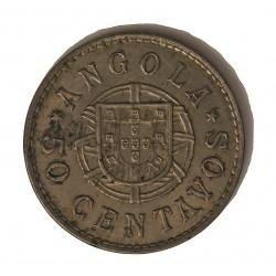 Angola 50 Ctvo. 1923. CUNI. 10,5gr. Ø31mm. MBC+. (Lev.suciedad). ESCASO/A. KM. 65