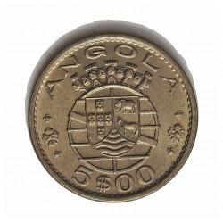Angola 5 Escudos. 1972. CUNI. 7gr. Ø24,5mm. SC-/SC. (Tono original). RARO/A. y mas en esta conservacion. KM. 81