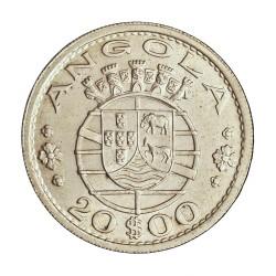 Angola 20 Escudos. 1952. AG. 10gr. Ley:0,720. Ø30mm. SC-/SC. KM. 74