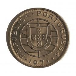 Angola 20 Escudos. 1971. CUNI. 12gr. Ø29mm. SC. KM. 80
