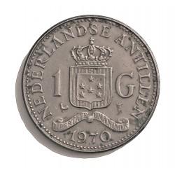 Antillas Holandesas 1 Gulden. 1970. CUNI. 9gr. (Juliana). Ø28mm. MBC+. (Manchitas). KM. 12
