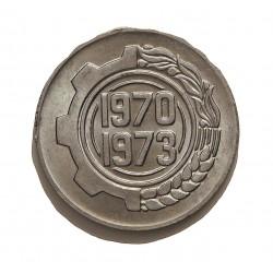 Argelia 5 Cts. 1970. AL. 1,49gr. (4º Año del Plan de la FAO). Ø21mm. SC. KM. 101