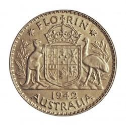 Australia 1  Forint. 1942. Melbourne. AG. 11,31gr. Ley:0,925. Ø28mm. EBC+/SC-. KM. 40