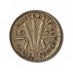 Australia 3  Pence. 1942. S-(St.Francisco). AG. 1,41gr. Ley:0,925. Ø16mm. EBC+/SC-. KM. 37