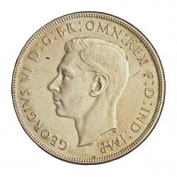 Australia 1  Corona. 1937. AG. 28,28gr. Ley:0,925. Ø38mm. EBC-/EBC. KM. 34