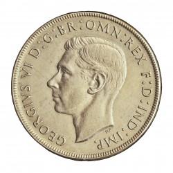 Australia 1  Corona. 1937. AG. 28,3gr. Ley:0,925. Ø38mm. EBC+. KM. 34