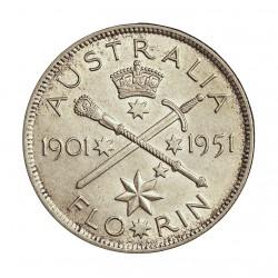 Australia 1  Florin. 1951. AG. 11,31gr. Ley:0,500. (Jubileo). Ø28mm. SC-/SC. KM. 47