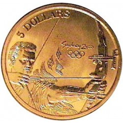 Australia 5  Dolar. 2000. ZN. 20gr. (Olimp.-Arquero). Ø39mm. SC. KM. 359