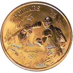 Australia 5  Dolar. 2000. ZN. 20gr. (Olimp.-Boxeo). Ø39mm. SC. KM. 432