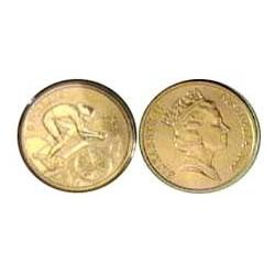 Australia 5  Dolar. 2000. ZN. 20gr. (Olimp.-Ciclismo). Ø39mm. SC. KM. 368