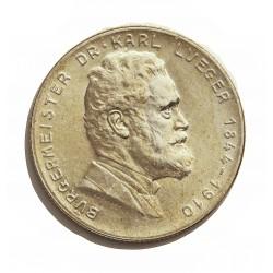 Austria-(y Estados) 2 Schilling. 1935. AG. 12gr. Ley:0,640. (25ºAnv.muerte de Karl Lueger). Ø29mm. EBC/EBC+. KM. 2855