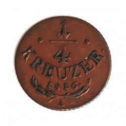 Austria-(y Estados) ¼ Kreuzer. 1816. A-(Viena). CU. 2,2gr. Ø20mm. MBC+. (Bonita patina). KM. 2107