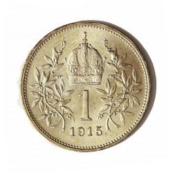Austria-(y Estados) 1  Corona. 1915. AG. 5gr. Ley:0,835. Ø23mm. SC-. (Lev.rayita en anv..Tono original). KM. 2820
