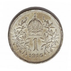Austria-(y Estados) 1  Corona. 1916. AG. 5gr. Ley:0,835. Ø23mm. SC-/SC. KM. 2820