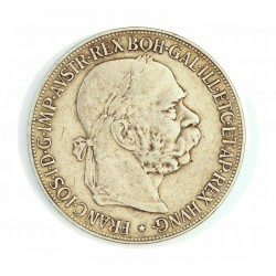 Austria-(y Estados) 5  Corona. 1900. AG. 24gr. Ley:0,900. Ø36mm. MBC-/MBC. KM. 2807