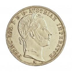 Austria-(y Estados) 1  Florin. 1860. A-(Viena). AG. 12,34gr. Ley:0,900. Ø29mm. SC-/SC. (Insig.marquitas anv. Tono y brillo origi