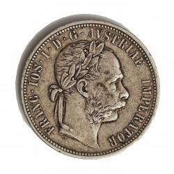 Austria-(y Estados) 1  Florin. 1878. AG. 12,34gr. Ley:0,900. Ø29mm. MBC. KM. 2222