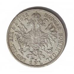 Austria-(y Estados) 1  Florin. 1878. AG. 12,34gr. Ley:0,900. Ø29mm. EBC/EBC+. KM. 2222