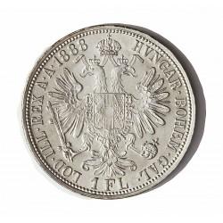 Austria-(y Estados) 1 Florin. 1888. AG. 12,34gr. Ley:0,900. Ø29mm. SC-/SC. (Tono mate original). KM. 2222