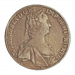 Austria-(y Estados) 1 Thaler. 1755. X. HALL. AG. 27,06gr. Ley:0,833. Ø40mm. MBC+/EBC-. (Lev.rayitas anv.). MUY ESCASO/A. KM. 18