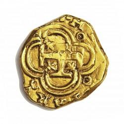 España 1 Escudos. (1610). S-(Sevilla). (B). MBC-. Anv: HI(SPAN)IARV(M REX). Rev: Ceca S a izquierda del escudo, valor I a derec