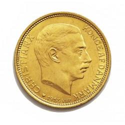 Dinamarca 20 Kroner. 1913. (h)-Copenhagen. VBP-AH/GJ. SC-/SC. (Lev.marquitas anv.). ESCASO/A. AU. 8,961gr. Ley:0,900. Ø23mm. KM