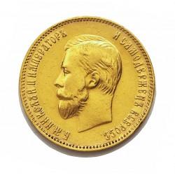 Rusia-IMPERIO 10 Rublos. 1899. CIIb-(St.Petersburg). MBC. (Marquitas). AU. 8,603gr. Ley:0,900. Ø23mm. KM. 64