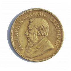 Sudafrica 1 Libra/Pound. 1898. MBC-/MBC. (1 Pound). AU. 7,988gr. Ley:0,917. Ø22mm. KM. 10.2