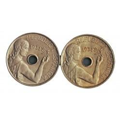 España 25 Cts. 1934. SC. (Tono). (Imagen tipo). NI. 7gr. Ø25mm. HG. 191