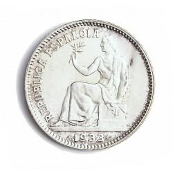 España 1 Ptas. 1933. *3*4. Madrid. SC-/SC. (Pátina). AG. 5gr. Ø23mm. CT. 2