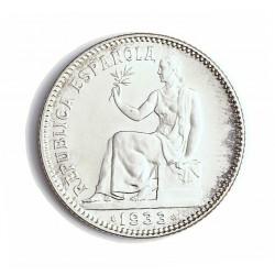 España 1 Ptas. 1933. *3*4. Madrid. SC/UNC. (Tono y brillo originales. Preciosa). (Imagen Tipo). AG. 5gr. Ø23mm. CT. 2