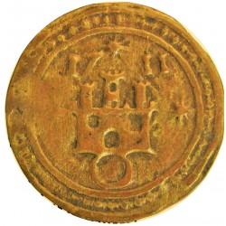 España PELLOFA. 1711. BISBAL DE L'EMPORDA.-LA-(Gi). MBC+. Anv: Castillo sobre anillo rodeado de tres estrellas. 1711 a las doce
