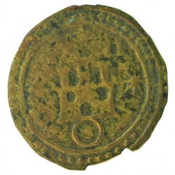 España PELLOFA. 1711. BISBAL DE L'EMPORDA.-LA-(Gi). MBC. Anv: Castillo sobre anillo rodeado de tres estrellas. 1711 a las doce h
