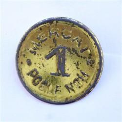 España 1 Ptas. BARCELONA-(B). (Mercat de Poblenou). EBC+. Anv: Mercat - Poblenou/Valor. (FICHA). Incusa. LA. 1,08gr. Ø25mm