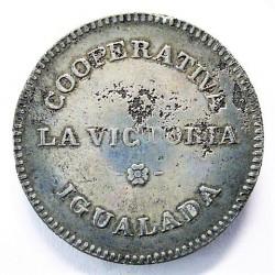 España 5 Ptas. 1931. 1939. IGUALADA-(B). MBC-. (Oxidos). Anv: Cooperativa/La Victoria/Igualada. Rev: Valor 1 Pta. (Cooperativ