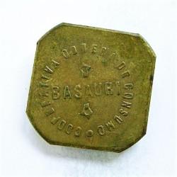 España 2 Kilo/s. 1931. 1939. BASAURI. (Coop.Obrera de Consumo). EBC+. Anv: Basauri, alrededor Ley.:Cooperativa Obrera de Consum