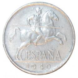 España 5 Cts. 1940. EBC. AL. 1,25gr. Ø20mm. HG. 238 - CT. 138