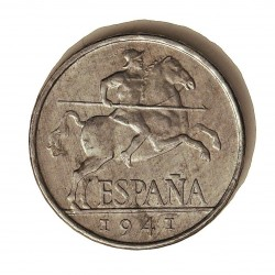 España 5 Cts. 1941. EBC/EBC-. AL. 1,2gr. Ø20mm. HG. 239 - CT. 139