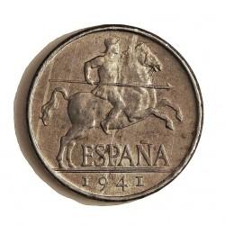 España 5 Cts. 1941. SC. (Tono original). (ImagenTipo). AL. 1,2gr. Ø20mm. HG. 239 - CT. 139