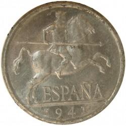 España 5 Cts. 1941. SC-. (Nuevo con pqños.puntitos de oxid.). AL. 1,25gr. Ø20mm. HG. 239 - CT. 139