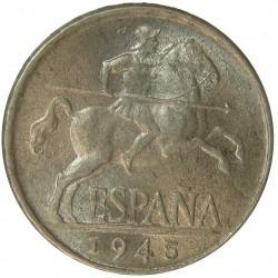España 5 Cts. 1945. EBC/EBC-. AL. 1,2gr. Ø20mm. HG. 240 - CT. 140