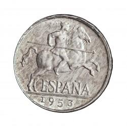 España 5 Cts. 1953. SC/SC-. (Nueva con su brillo mate original). AL. 1,2gr. Ø20mm. HG. 241 - CT. 141